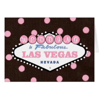 Rosa BRÖLLOP för mocka i det sagolika Las Vegas Hälsningskort