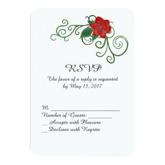 Rosa bröllop OSAkort för elegant 8,9 X 12,7 Cm Inbjudningskort