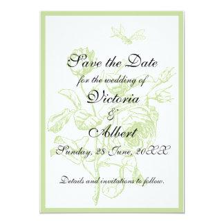 Rosa bröllopinbjudan för vintage 12,7 x 17,8 cm inbjudningskort