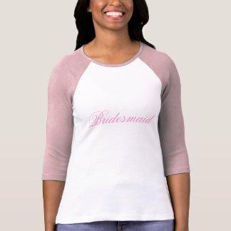 Rosa brudtärna tee shirts
