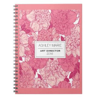 Rosa bukett anteckningsbok