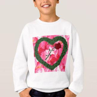 Rosa buskar för rosa hjärta för bakgrund rosa tee shirt