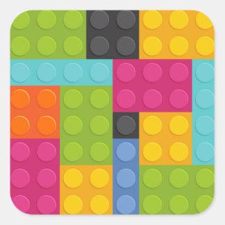 rosa bygga kvarter fyrkantigt klistermärke