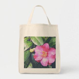 Rosa Camellialivsmedeltoto Mat Tygkasse
