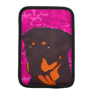 Rosa Camo med Rottweiler Sleeve För iPad Mini