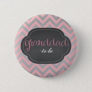 Rosa chic granddad-till-är knäppas standard knapp rund 5.7 cm