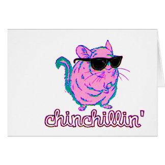 Rosa Chinchillin för neon Chinchilla Hälsningskort