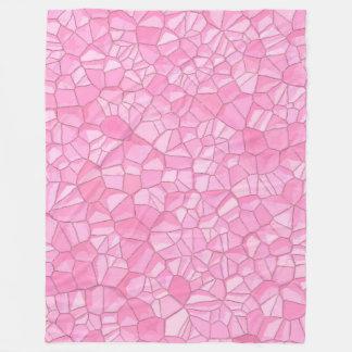 Rosa crystal ullfilt som är stor fleecefilt