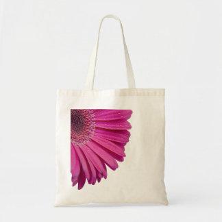 Rosa daisyblomma med härliga vattenliten droppe budget tygkasse