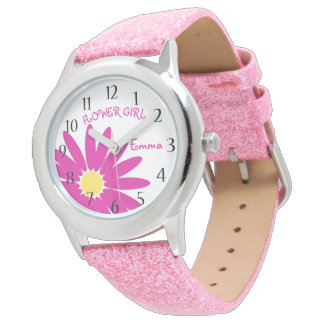 Rosa daisybrudtärna armbandsur