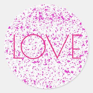 Rosa Dalmatian tryckklistermärkear för kärlek Runt Klistermärke