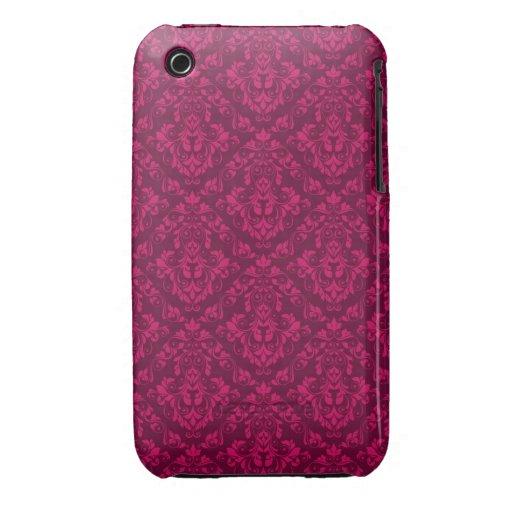 Rosa damastast designblackberry curvefodral Case-Mate iPhone 3 fodraler