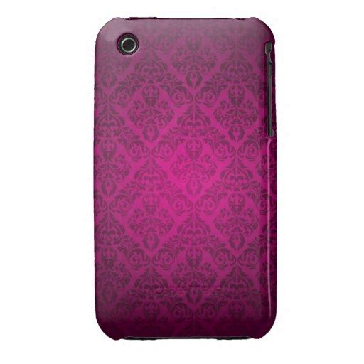 Rosa damastast designblackberry curvefodral iPhone 3 cases