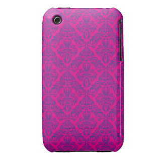 Rosa damastast designblackberry curvefodral iPhone 3 Case-Mate fodral