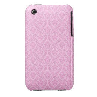 Rosa damastast designblackberry curvefodral iPhone 3 covers