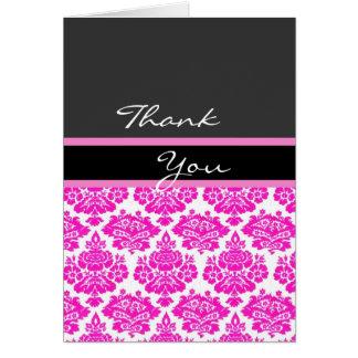 rosa damastast tackkortkort OBS kort
