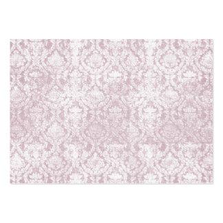 rosa damastast visitkortar för vintage visitkort
