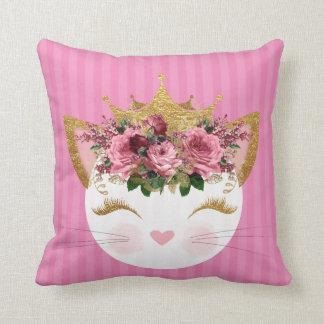 Rosa dekorativ kudde för Princess Kattunge