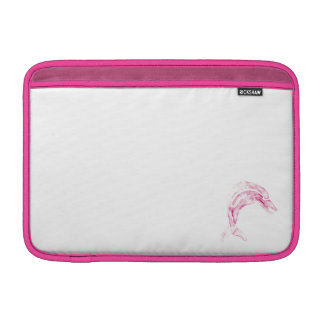 Rosa delfin MacBook sleeve