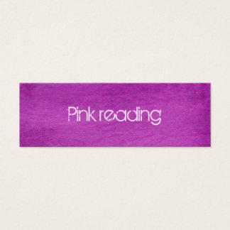 rosa denim litet visitkort