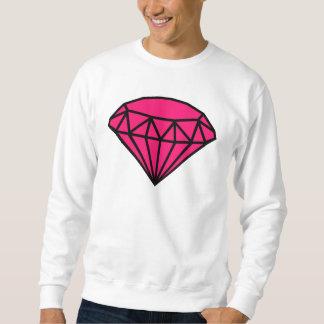 Rosa diamant lång ärmad tröja