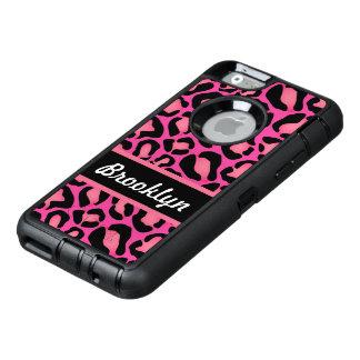 Rosa djurt tryck OtterBox defender iPhone skal