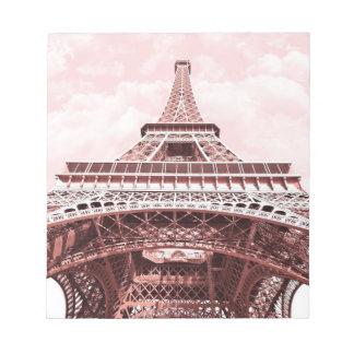 Rosa Eiffel tornanteckningsblock Anteckningsblock
