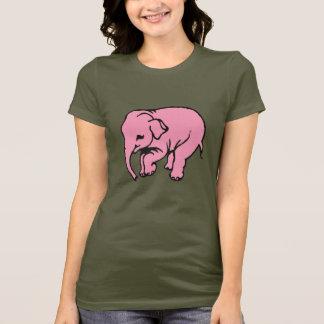 Rosa Elefant Tee Shirt