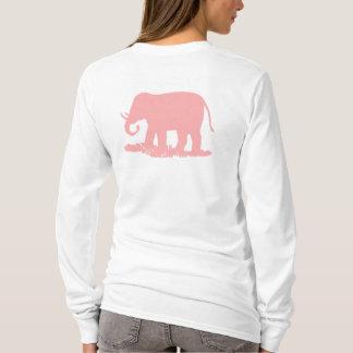 Rosa elefant tshirts