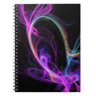 Rosa elektrisk Fractal Anteckningsbok