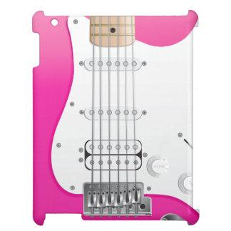 Rosa elektriskt gitarriPadfodral iPad Mobil Skal