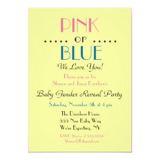 Rosa- eller blåttgender avslöjer inbjudan