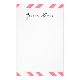 Rosa färg för geometriska designer för brevpapper