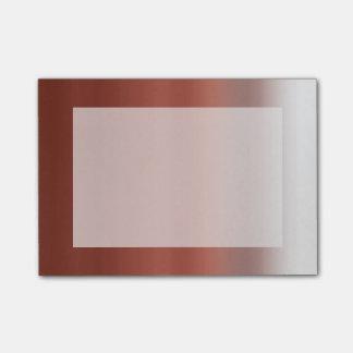 Rosa färgad röd färg Ombre för vattenfärg dopp Post-it