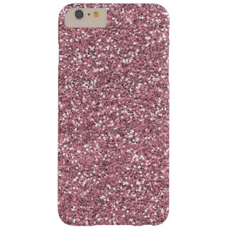 Rosa Fauxglitter Barely There iPhone 6 Plus Skal