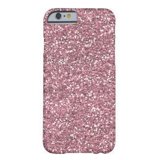 Rosa Fauxglitter Barely There iPhone 6 Skal
