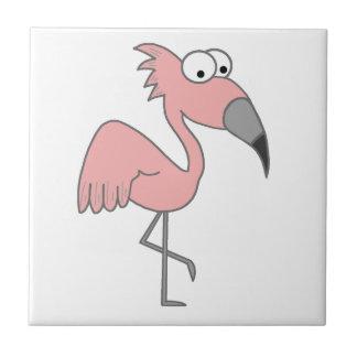 Rosa Flamingo Liten Kakelplatta