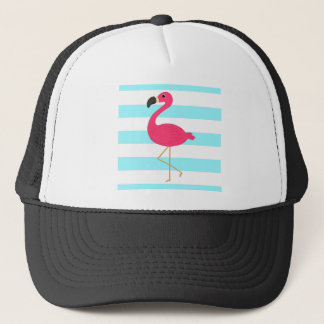 Rosa Flamingo på ljusa krickarandar Truckerkeps