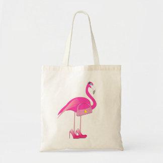 Rosa Flamingobudgettoto Budget Tygkasse