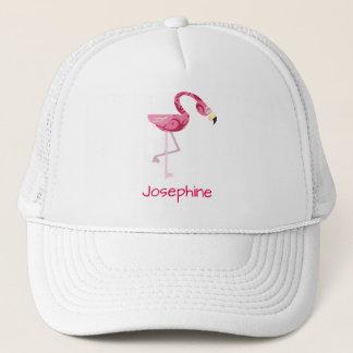 Rosa Flamingofågel för personlig Keps