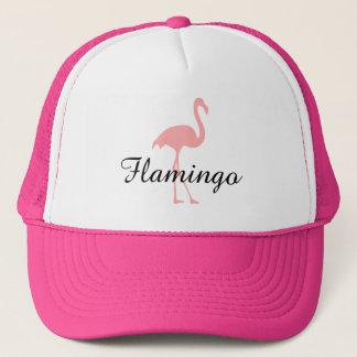 Rosa flamingofågelhatt med beställnings- text keps