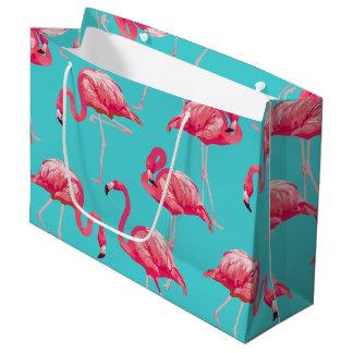 Rosa flamingofåglar på turkosbakgrund