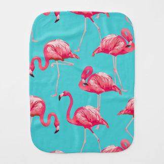 Rosa flamingofåglar på turkosbakgrund bebistrasa