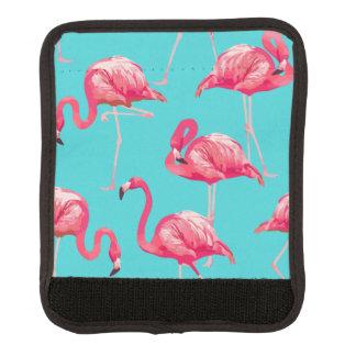 Rosa flamingofåglar på turkosbakgrund handtagsskydd