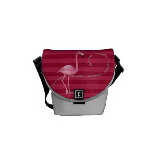 Rosa Flamingomessenger bag för underland Messenger Bag