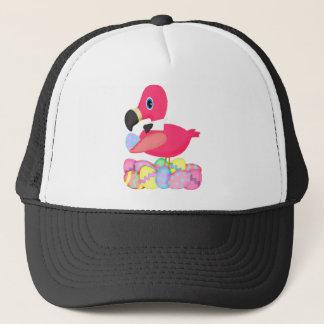 Rosa Flamingopåskägg Bowtie Truckerkeps