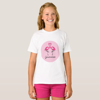 Rosa Flamingopersonligskjorta T Shirts