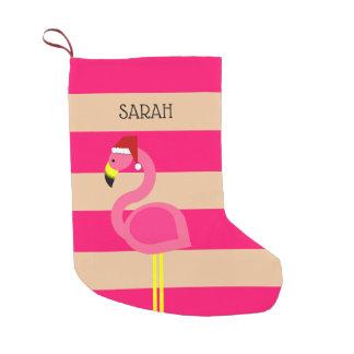 Rosa Flamingopersonligstrumpa Liten Julstrumpa