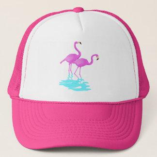 Rosa Flamingoshatt Truckerkeps