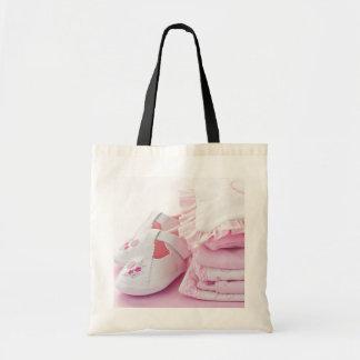 Rosa flickakläder för baby shower budget tygkasse
